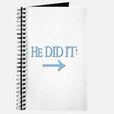 HE DID IT! (right) Journal