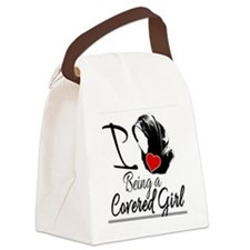 Covered girl Canvas Lunch Bag