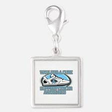Prostate Cancer Walk Silver Square Charm