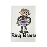 Cartoon Ring Bearer Rectangle Magnet