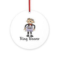 Cartoon Ring Bearer Ornament (Round)
