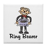 Cartoon Ring Bearer Tile Coaster