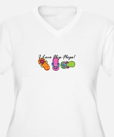 I Love Flip Flops Plus Size T-Shirt