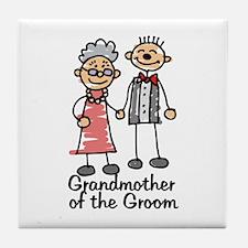 Groom's Grandmother Tile Coaster