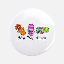 "Flip Flop Queen 3.5"" Button"