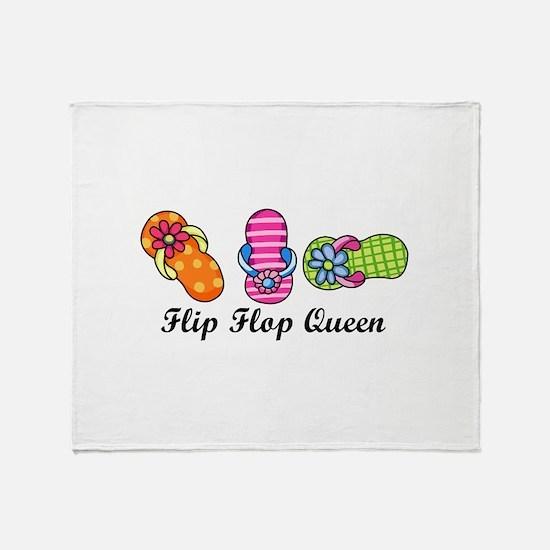 Flip Flop Queen Throw Blanket