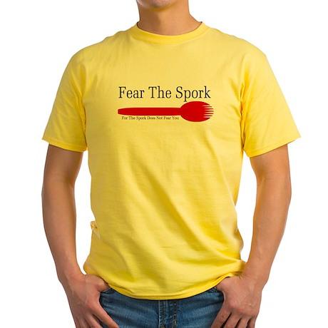 Fear The Spork Yellow T-Shirt