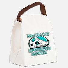 Ovarian Cancer Walk Canvas Lunch Bag