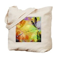 Colorful dragonfly reflection Tote Bag