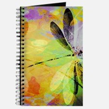Colorful dragonfly reflection Journal