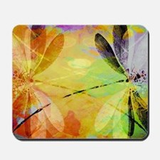 Colorful dragonfly reflection Mousepad