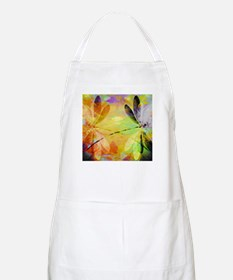 Colorful dragonfly reflection Apron