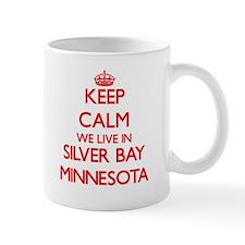 Keep calm we live in Silver Bay Minnesota Mugs