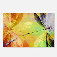 Colorful dragonfly reflec Postcards (Package of 8)