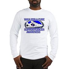 Male Breast Cancer Walk Long Sleeve T-Shirt