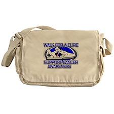 Male Breast Cancer Walk Messenger Bag