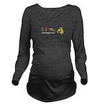 I Love Snogging Long Sleeve Maternity T-Shirt