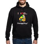 I Love Snogging Hoodie (dark)