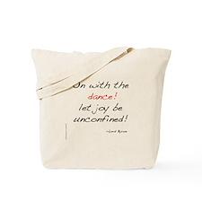 Byron on Dance Tote Bag