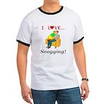 I Love Snogging Ringer T