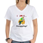 I Love Snogging Women's V-Neck T-Shirt