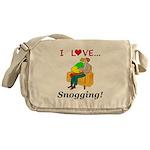 I Love Snogging Messenger Bag