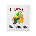 I Love Snogging Throw Blanket