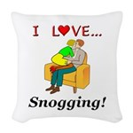 I Love Snogging Woven Throw Pillow