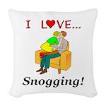 I Love Snogging Woven Throw Pillow