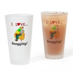 I Love Snogging Drinking Glass