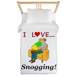 I Love Snogging Twin Duvet