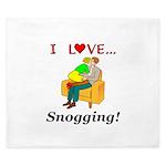 I Love Snogging King Duvet