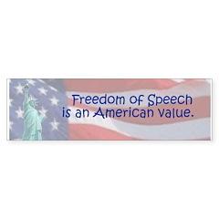 Freedom of Speech (Bumper Sticker)