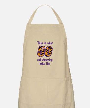 FIFTY AND AMAZING Apron
