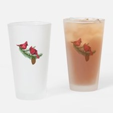 CARDINALS IN PINE TREE Drinking Glass