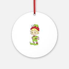 CUTE ELF Ornament (Round)