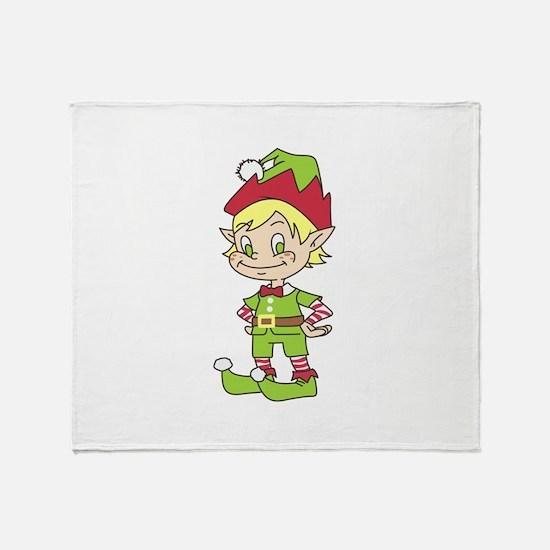 CUTE ELF Throw Blanket