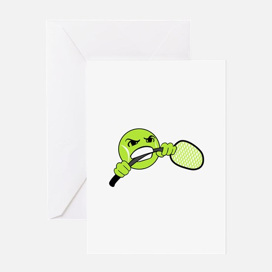 TENNIS FRUSTRATION Greeting Cards
