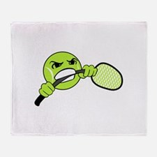 TENNIS FRUSTRATION Throw Blanket