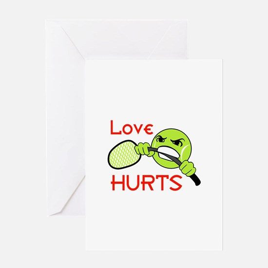 LOVE HURTS Greeting Cards