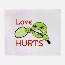LOVE HURTS Throw Blanket