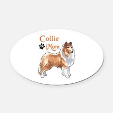 COLLIE MOM Oval Car Magnet