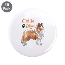 """COLLIE MOM 3.5"""" Button (10 pack)"""