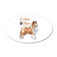 COLLIE MOM Wall Decal
