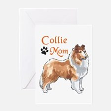 COLLIE MOM Greeting Cards