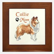 COLLIE MOM Framed Tile