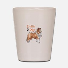 COLLIE MOM Shot Glass