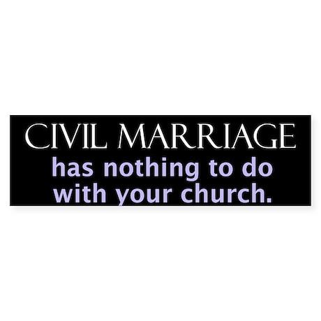 Civil marriage (Bumper Sticker)