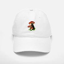 Black Cat Red Mushrooms Baseball Baseball Cap