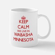 Keep calm we live in Wabasha Minnesota Mugs